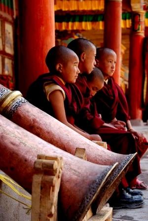 Buddhist Child Monk, India