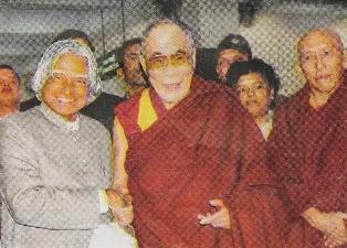 Kalam with Dalai Lama, Dharamsala