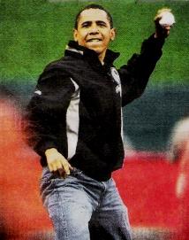 Barack Obama Baseball 2009