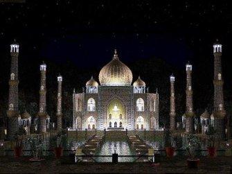Taj in Diwali India