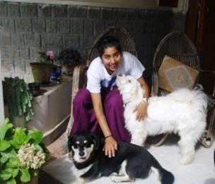 Tabu and Bobo in Vidya Niwas